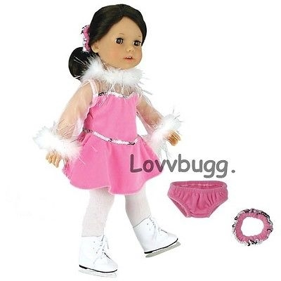 f127acb8c Pink Ice skating outfit doll clothes for American Girl and other 18 ...
