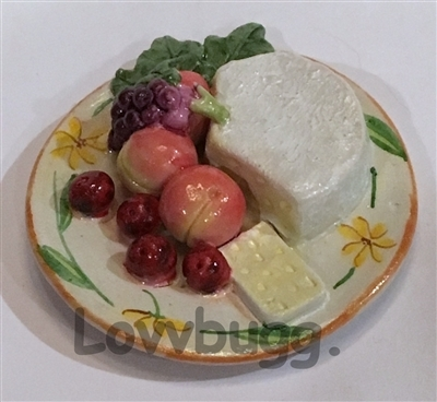 Cheese and Fruit Plate American Girl Doll Food Accessory