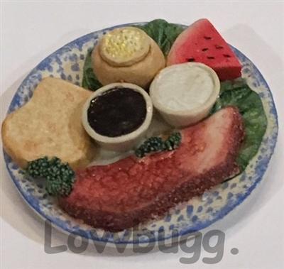 Steak Plate American Girl Doll Food Accessory